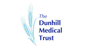 Dunhill Medical Trust logo – two ears of wheat in pale blue