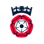 Hampshire County Council logo – Tudor rose with blue crown above