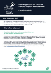 Time to connect: Care homes